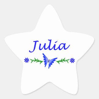 Julia (Blue Butterfly) Star Sticker
