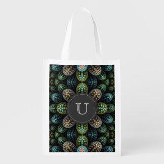 """Julia Bubble"" Monogrammed Reusable Grocery Bag"