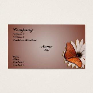 Julia Butterfly on Daisy Business Card