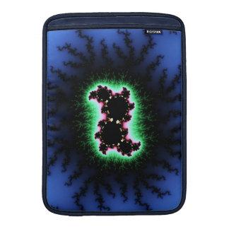 Julia Cell, Fractal Art - Blue Green Pink MacBook Air Sleeve