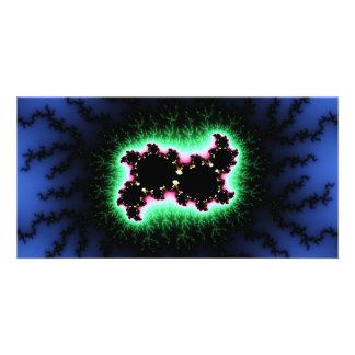 Julia Cell, Fractal Art - Blue Green Pink Photo Cards