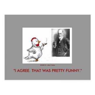 Julia Chicken and Sigmund Freud Face Off Post Cards