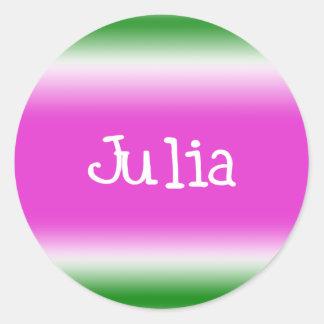 Julia Classic Round Sticker