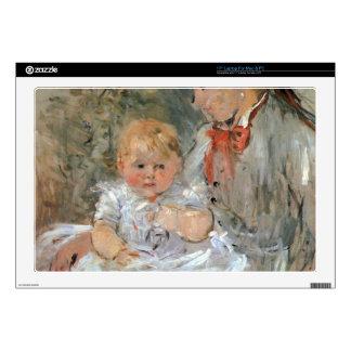 Julia con su enfermera de Berthe Morisot Portátil Skins