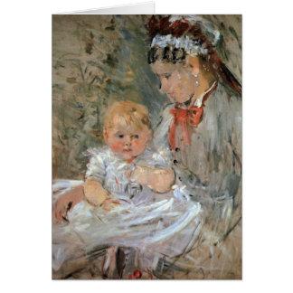 Julia con su enfermera de Berthe Morisot Felicitacion
