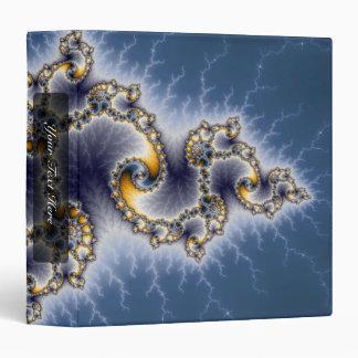 """Julia en el azul - arte del fractal carpeta 1 1/2"""""""