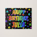 "[ Thumbnail: ""Julia"" First Name, Fun ""Happy Birthday"" Jigsaw Puzzle ]"