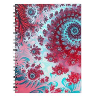 Julia Fractal 3 Spiral Notebook