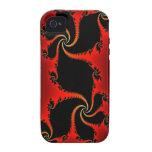 Julia Fractal Red Dragon Art iPhone 4 Case