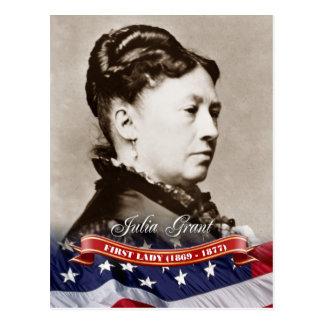Julia Grant, primera señora de los E.E.U.U. Postales