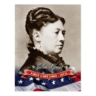 Julia Grant, primera señora de los E.E.U.U. Tarjetas Postales