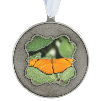Julia Heliconian Dryas Julia Scalloped Pewter Ornament