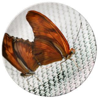 Julia Heliconian Dryas Julia Porcelain Plates