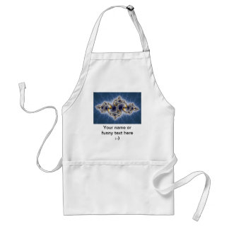Julia In Blue - Fractal Art Adult Apron