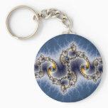 Julia In Blue - Fractal Art Keychain