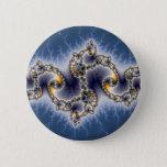 Julia In Blue - Fractal Art Pinback Button