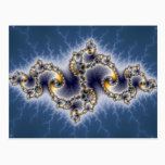Julia In Blue - Fractal Art Postcard