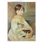Julia Manet con el gato, 1887 Tarjeta De Felicitación