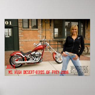 Julia, ms High Desierto-Pájaro de la presa 2008 Impresiones