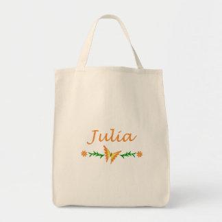 Julia (Orange Butterfly) Canvas Bag
