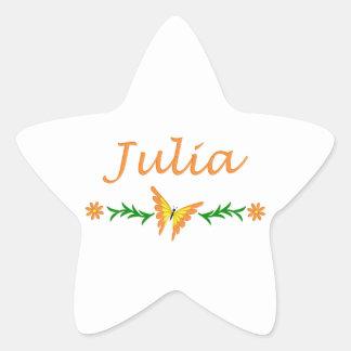 Julia (Orange Butterfly) Star Sticker