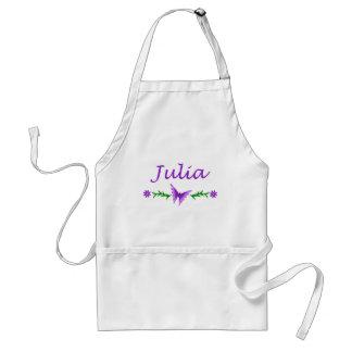 Julia Purple Butterfly Apron