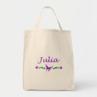 Julia (Purple Butterfly) Tote Bags