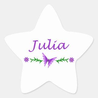 Julia (Purple Butterfly) Star Sticker