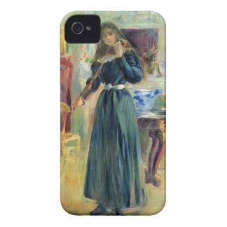 Julia que toca el violín de Berthe Morisot iPhone 4 Case-Mate Cobertura
