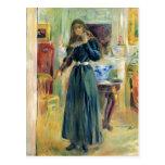 Julia que toca el violín de Berthe Morisot Tarjetas Postales