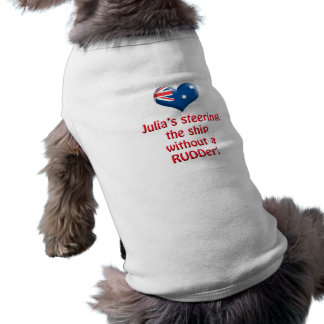 Julia s Steering The Ship Dog T-shirt