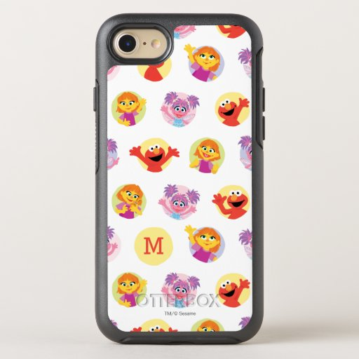 Julia & Sesame Street Friends Pattern OtterBox Symmetry iPhone SE/8/7 Case