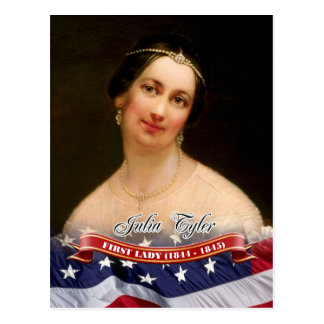 Julia Tyler First Lady of the U S Post Card