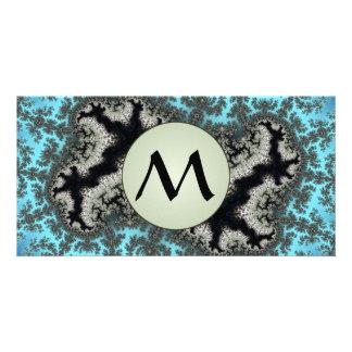 Julia Winter - Fractal Ice With Grey Monogram Card