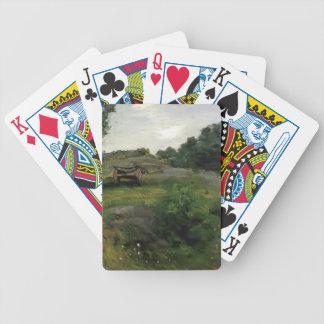 Julian Alden Weir- Connecticut Scene Poker Deck