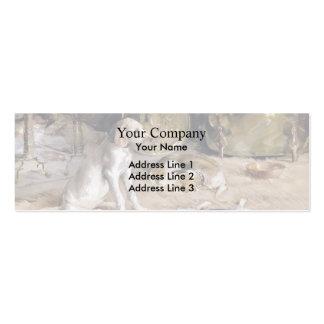 Julian Alden Weir: Fireside Dreams Double-Sided Mini Business Cards (Pack Of 20)