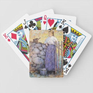 Julian Alden Weir- Girl Standing by a Gate Card Decks