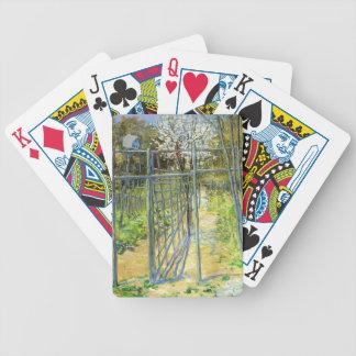 Julian Alden Weir- The Grey Trellis Bicycle Poker Cards
