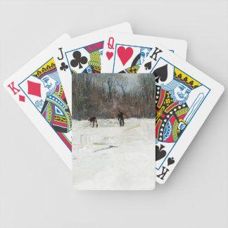 Julian Alden Weir- The Ice Cutters Poker Cards