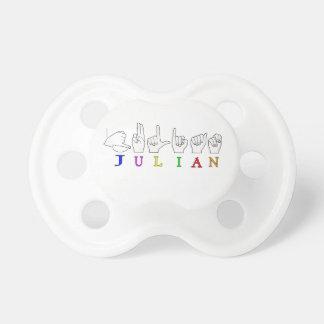JULIAN ASL FINGERSPELLED NAME SIGN MALE PACIFIER