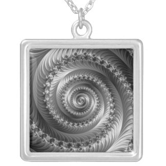 Julian Black and White Spiral Necklace