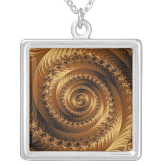 Julian Golden Spiral Necklace
