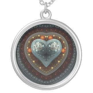 Julian Heart Round Pendant Necklace