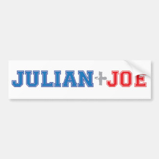 Julian + Joe Bumper stick Car Bumper Sticker