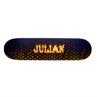 Julian skateboard fire and flames design.