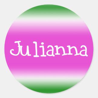 Julianna Etiquetas Redondas