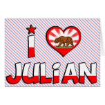 Juliano, CA Tarjetón