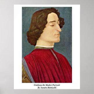 Juliano De Medici Portrait de Sandro Botticelli Posters