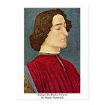 Juliano De Medici Portrait de Sandro Botticelli Postales