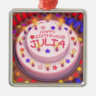 Julia's Birthday Cake Ornaments